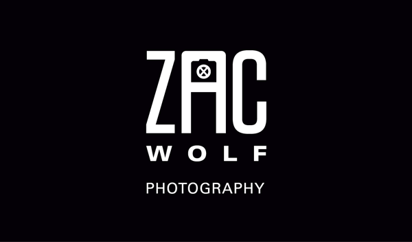 Zac X Wolf Full Mark + Logotype (front of business card)