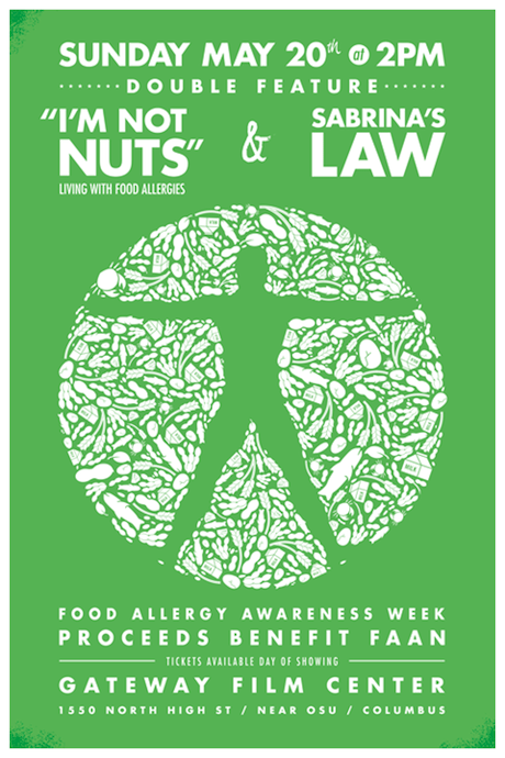 Detail of Food Allergy Awareness Double Feature Movie Poster