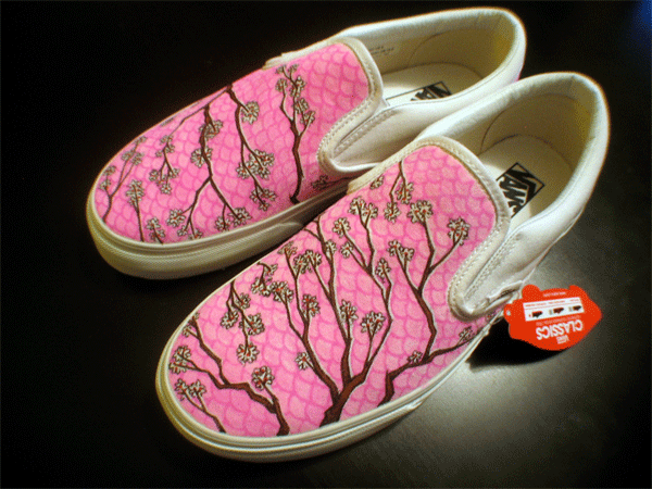 custom vans slip ons for sale